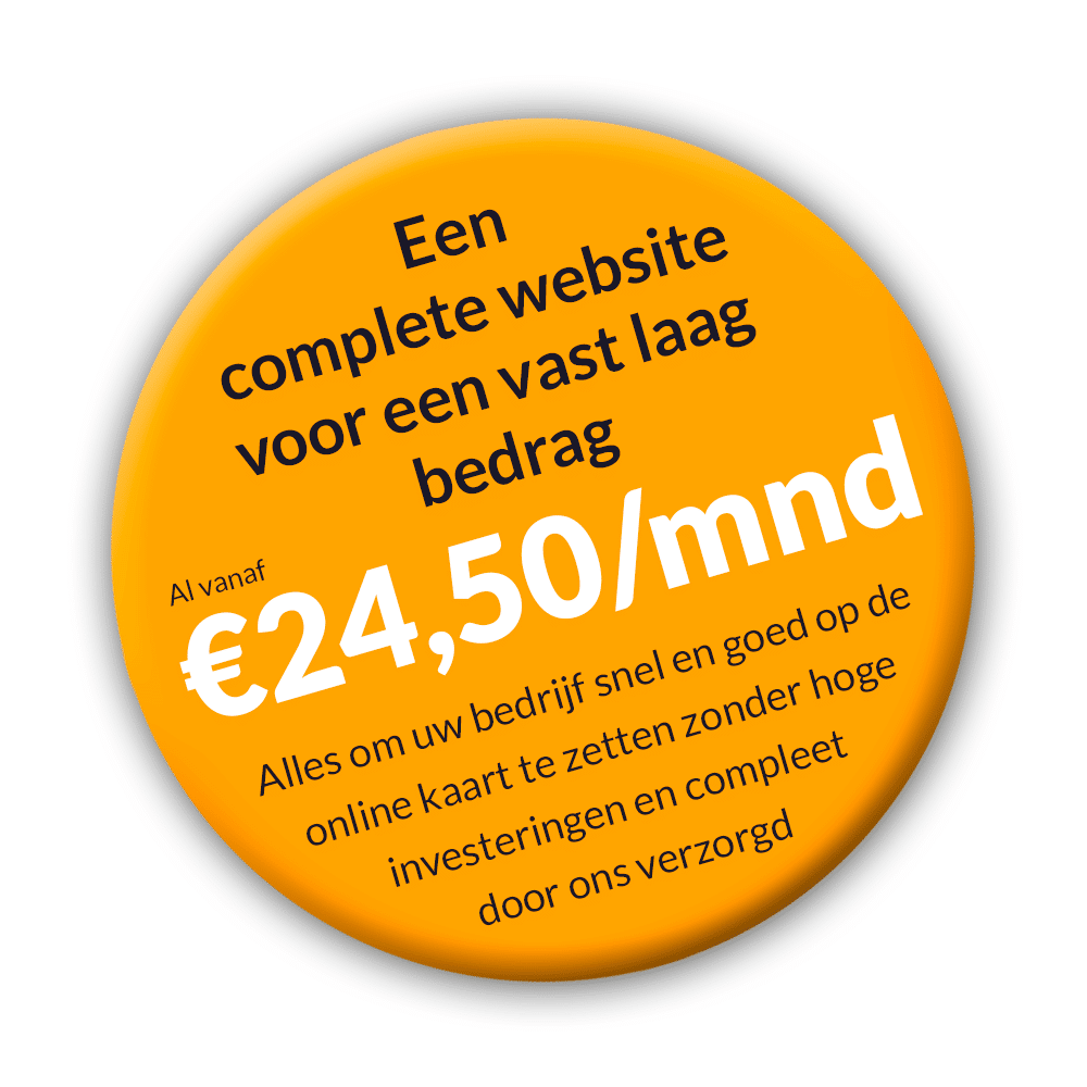 Aanbieding: all inclusive websitepakket.